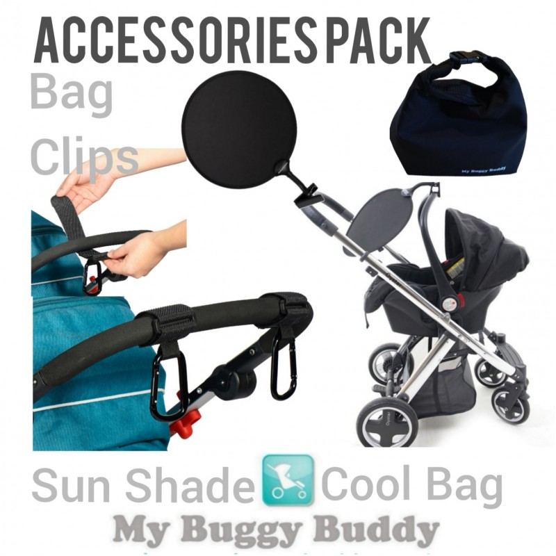 Accessories Pack, Sun Shade, Buggy Clip, Cool Bag