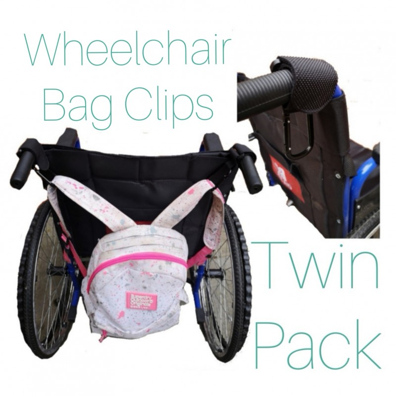 Wheelchair, Rollator, Walking Frame Bag Clips, Twin Pack