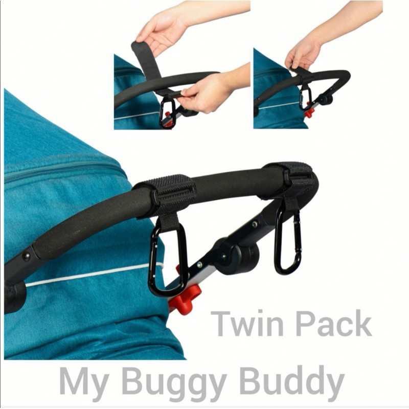 Bag Clips, Twin Pack. For Holding A Changing Bag Or Light Bits Of Shopping