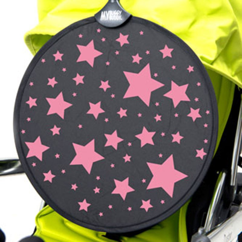Buggy/Pram Sunshade - Pink Or Blue Stars